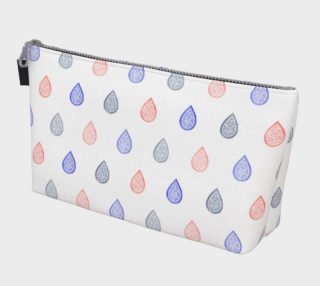 Rose quartz, lilac grey and serenity blue raindrops Makeup Bag preview