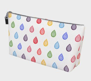 Rainbow raindrops Makeup Bag preview