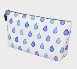 Blue raindrops Makeup Bag aperçu
