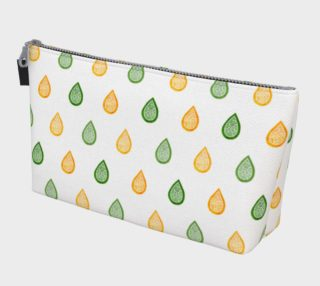 Yellow and green raindrops Makeup Bag preview