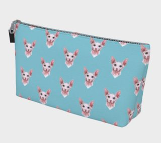 Sphynx cats pattern Makeup Bag preview
