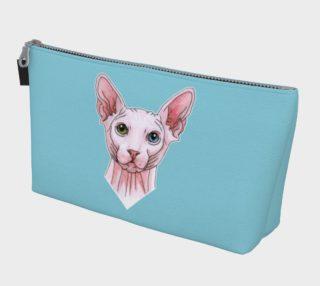 Sphynx cat portrait Makeup Bag aperçu