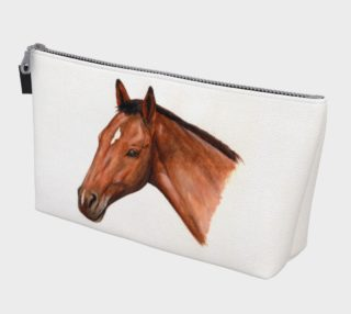 Bay horse portrait Makeup Bag preview