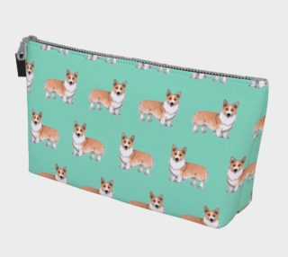 Welsh corgi dogs pattern Makeup Bag aperçu