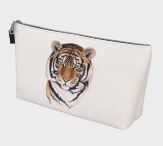 Tiger portrait watercolor Makeup Bag preview