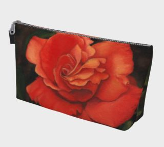 Coral rose flower Makeup Bag preview