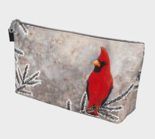 The red cardinal in winter Makeup Bag preview
