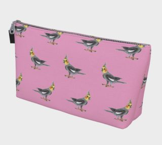 Cockateel birds pattern Makeup Bag preview