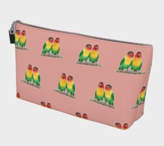 Fischer's lovebirds pattern Makeup Bag aperçu