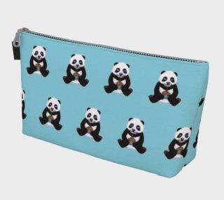 Baby panda's birthday pattern Makeup Bag aperçu