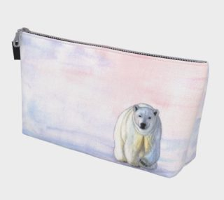 Polar bear in the icy dawn Makeup Bag aperçu