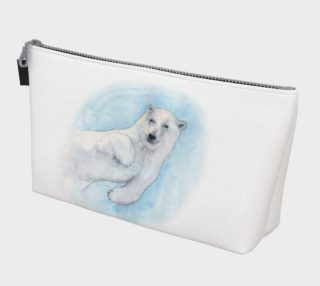 Polar bear underwater Makeup Bag aperçu