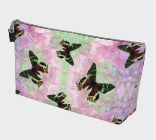 Urania Ripheus butterflies pattern Makeup Bag preview