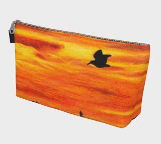 Sunset with bird Makeup Bag aperçu