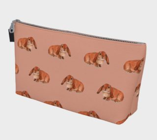 Red rabbit ram pattern Makeup Bag preview