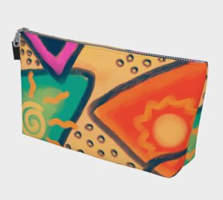 Aperçu de Colorful Abstract Art Clutch Bag