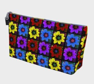 Cosmic Neon Flower Pop Art Pattern Makeup Bag aperçu