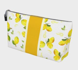 Aperçu de Lemon Stripe Make Up Bag