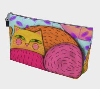 Aperçu de Abstract Cat Clutch Bag