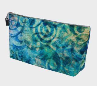 Aperçu de Blue Swirl Makeup Bag