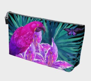 Tropical Parrot makeup bag preview