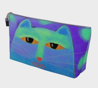 Aperçu de Abstract Blue Cat Clutch Bag