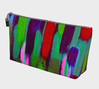 Brushstrokes Red and Green Makeup Bag preview