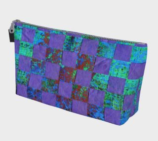 Aperçu de Purple Paper Weaving Makeup Bag
