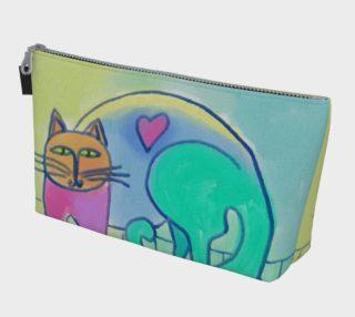 Aperçu de Happy Cat Abstract Art Clutch Bag