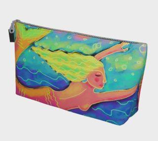 Aperçu de Mermaid in the Sea Abstract Art Clutch Bag