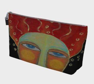 Aperçu de Wild Red Hair Abstract Art Clutch Bag
