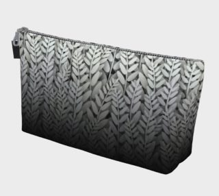 Black and White - Fern Makeup Gear Bag With Pocket preview