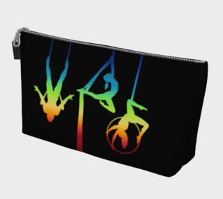 Aerial Ombre - Midnight Rainbow Makeup Gear Bag with Pocket preview