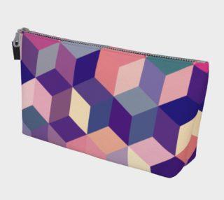 Aperçu de Geometrix - Cubit Pink Makeup Gear Bag With Pocket