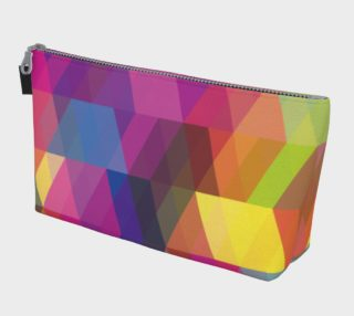 Geometrix - Triangulation Makeup Gear Tote Bag With Pocket preview