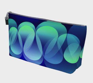 Geometrix - Ripple Blue Makeup Gear Bag with Pocket preview