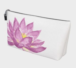 Purple Lotus Flower Makeup Cosmetic Bag preview