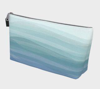 Aperçu de Watercolor Waves Makeup Bag