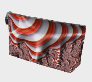 Candy Cane Fractal Makeup Bag preview