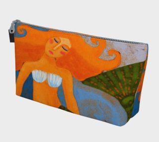 Aperçu de Lovely Mermaid Abstract Art Clutch Bag