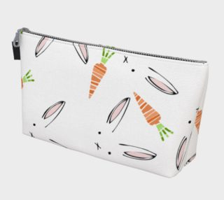 Easter Bunnies and Carrots Makeup Bag preview