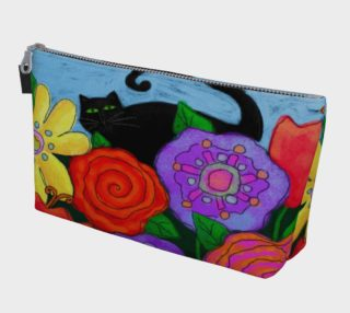 Aperçu de Black Cat in Garden Abstract Art Clutch Bag