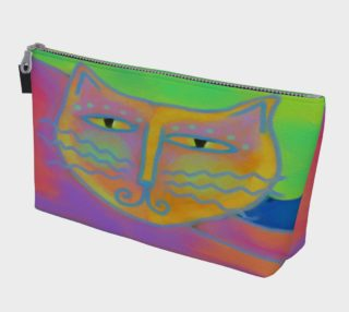 Aperçu de Hot Pink Cat Abstract Art Clutch Bag