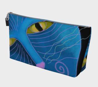 Aperçu de Blue Cat Face Abstract Art Clutch Bag