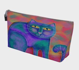 Aperçu de Funky Cat Abstract Art Clutch Bag