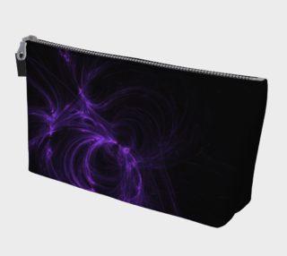 Purple Fractal on Black Makeup Bag preview