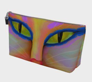 Aperçu de Colorful Abstract Cat Clutch Bag