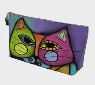 Aperçu de Colorful Calico Cat Abstract Art Clutch Bag
