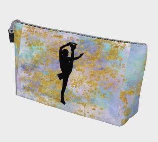 Pastel Watercolors and Gold Design with Figure Skater preview