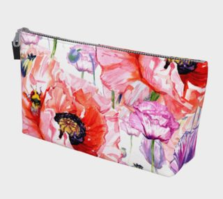 Aperçu de Poppies on White Makeup Bag